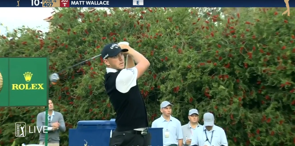 PGA TOUR's Matt Wallace makes a donation to Blessings in a Backpack