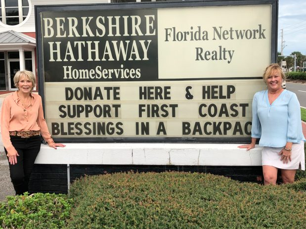 Berkshire Hathaway HomeServices Florida Network Realty Raises $7,540 for First Coast Blessings in a Backpack