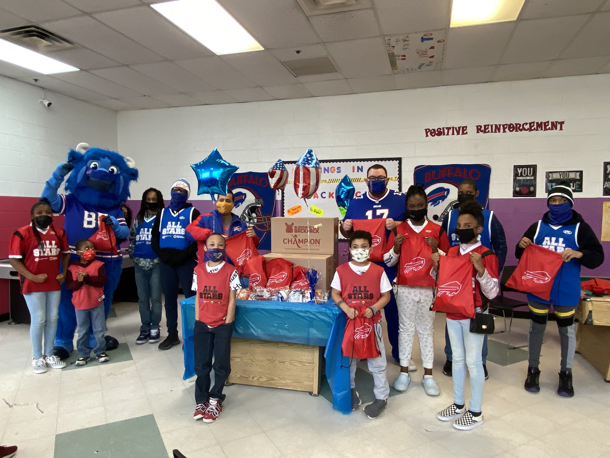 After viral donation campaign started by Bills Mafia, organization distributes bags of food to WNY kids